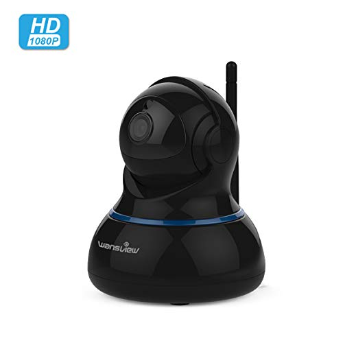 Wansview 1080P HD WLAN IP Kamera, Überwachungskamera mit Schwenk- und Neige, 2-Wege Audio und Nachtsicht Sicherheitskamera Home Indoor-Kamera für Haustier/Baby Monitor Q3S (Schwarz)