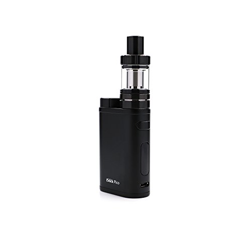 E Zigarette, Eleaf iStick Pico 75W TC Full Kit, Vape Kit with TC Mod Box, Riesiger Dampf Elektronische Zigarette Kit, Keine Flüssigkeit, Kein Nikotin (schwarz)