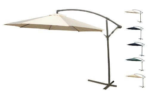 Bentley Garden - Parasol/parapluie banane suspendu - patio/jardin - crème - 3 m