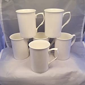 Set of 6  Bone China Mugs Free UK Delivery