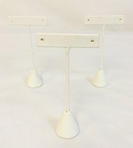 - Display® 3schwarz Samt Ohrring T Ständer Styling zeigt 12,1cm H White Leatherette (Schwarz Bejeweled)