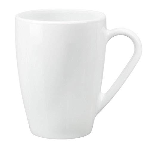 Fitting Gifts Bistro Collection Grandes Tasses à Café/Café au Lait/Thé en Verre, Blanc, 32cl (Lot de 6)