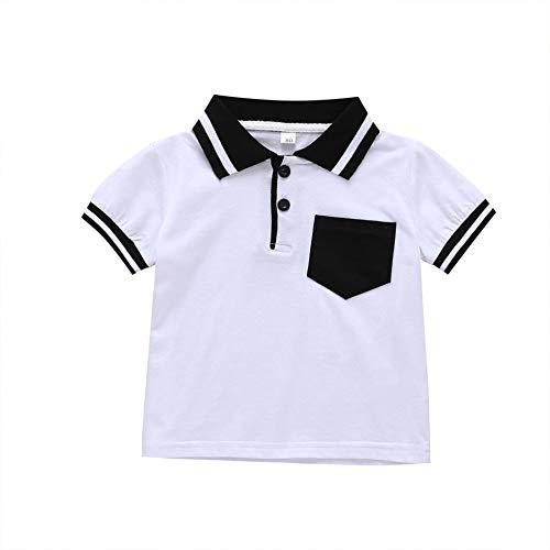 Hongyuangl Uniform Kurzarm Polo für Kinder Mädchen Jungen Alter 1-5 Jahre Klassisches T-Shirt Tee Tops -