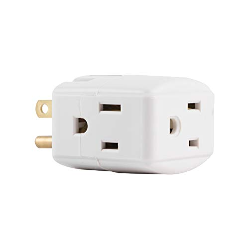 GE Grounded 3-Outlet Tap, 58368 by GE -