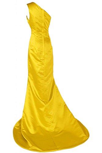 Sunvary Chic Una spalla raso abito da sera, abiti da sera Pageant-Gowns Gold