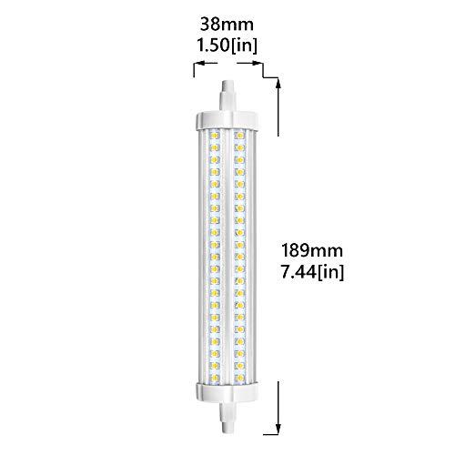 R7s Stableuchte 189mm 30W LED Strahler 3000Lumen 360°Abstrahlwinkel Warmweiß3000K 132Stück hoch Helligkeit LED Chips J Typ J189 Flutlicht Äquivalent zu 450W Halogenbirne(2