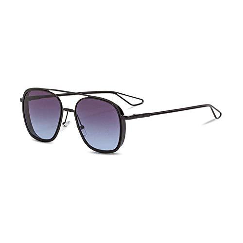 EYEphd Double Beam Gradient Lens Sonnenbrille-Fashion Women Men Vintage Retro Gold Frame Aviator Brille UV400 Sun Glasses,02