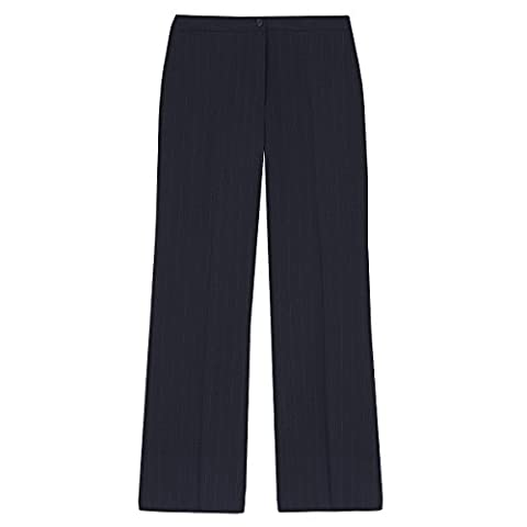 Ladies Plus Size Bootcut Straight Leg Work Pants (Sizes 16-24) Smart Formal Pull On Trousers For Office