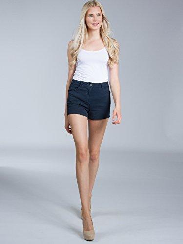 CASPAR HTP005 Damen Sommer Shorts / Hotpants / kurze Hose Dunkelblau