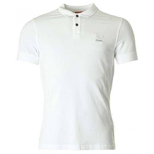 BOSS Orange Herren Poloshirt 10122648 01 Weiß