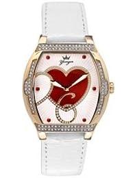 Reloj Yonger pour elle mujer rojo y blanco decorado + brillantes–DCP 1533/02