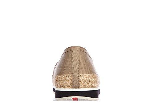 Prada slip on femme sneakers gabardine beige Beige