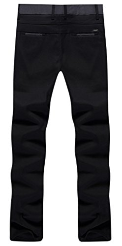 Gillbro Pantalons d¨¦contract¨¦s stretch Men's Skinny Stretchy Casual Noir