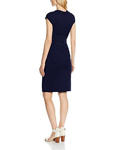 HotSquash Damen Kleid Raglan Sleeve Side Ruched blau (marineblau)
