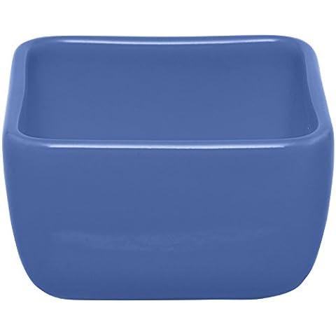 Excèlsa Ciotolina Snack Quadrata, cm 9, Ceramica, Azzurro