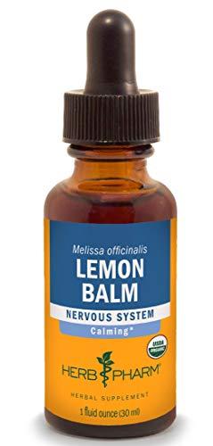 Herb Pharm sans alcool mélisse Glycerite pour Calmer prise en charge du système nerveux-28,3gram