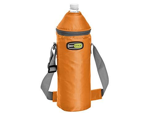 Giostyle 2305360, portabottiglietta termico vela+lt.1,5 unisex adulto, giallo, arancio, azzurro, 11 cm
