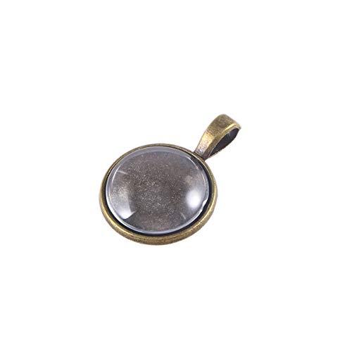 Glas Runder Anhänger (Healifty 5 stück Schmuck Anhänger Tabletts Runde Glas Cabochon Lünette für DIY Handwerk Geschenk Schmuckherstellung)