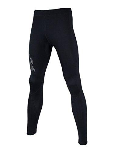 Sub Sports Kinder Warme Thermo-Leggins, Kompressionspassform, Tarnfarbenoptik - Schwarz - 7-8 Alter (Run Thermal Performance Die Tight)