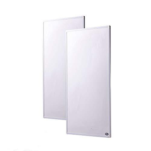 2 calentadores infrarrojos eléctricos de 600 W muy delgados (1 cm) con panel de calefacción infrarrojo lejano