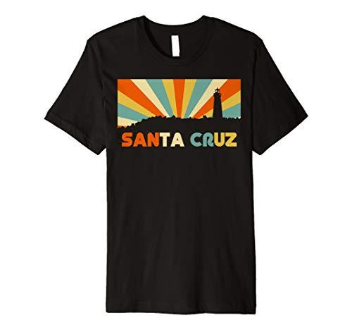Santa Cruz City TShirt CA Retro Vintage 70s Sunset Tee Shirt (Santa-t-shirt)
