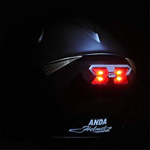 AVANI EXCHANGE Universal Motorradhelm Rücklicht Aufkleber Nachtlichtleiste Sicherheitssignal Warnlicht