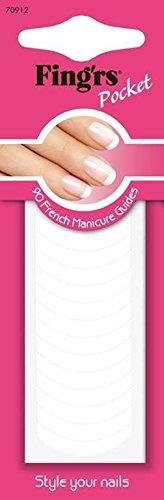 Fing'rs French Manicure Schablonen, 1er Pack (1 x 90 Stück)