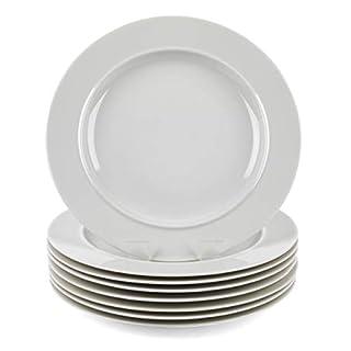 Alessi COMBO-3348 La Bella Tavola Porcelain Dinner Plates, 27 cm, Off-White, Set of 12 | Dishwasher Safe | for Domestic & Commercial Use