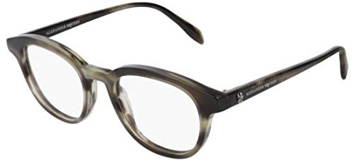 Alexander McQueen Brillen AM0160O BROWN HAVANA Herrenbrillen