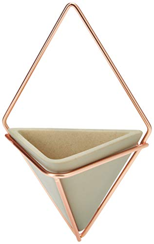 Soporte grande de pared en forma de rombo, de Umbra, Concrete / Copper, Small