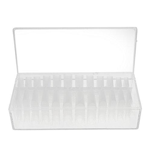Baoblaze 504 Pièces Faux Ongles Long Durable en ABS Plastique Bricolage de Décoration pour Fête Soirée - Clair