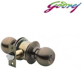 Godrej Cylindrical Lock Keyless (Antique Brass)