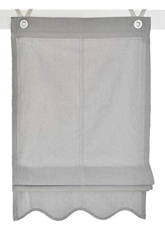 Kutti tenda a pacchetto olivia grigio con occhielli 45 * 140 cm