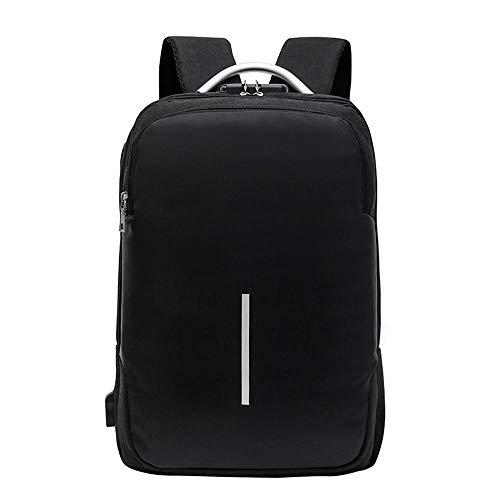 FashionCraze Women's Backpack Antifurto Password Lock Uomo e donna Business Backpack Ladies Zaino Impermeabile School Bags Antifurto Daypack Shoulder Bags Nero