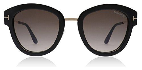 Tom Ford Unisex-Erwachsene FT0574 01T 52 Sonnenbrille, Schwarz (Nero Lucido/Bordeaux Grad),