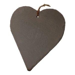 The Just Slate Company Natural Slate Heart-Shaped Memo Board, 10.1 x 9.75-Inch by Just Slate Shaped Memo-board