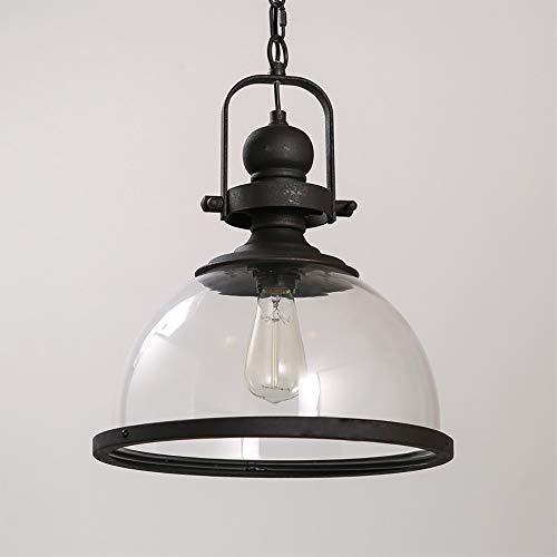 Zhanying E27 industrielle Edison-Birnen-Anhänger beleuchtet rustikale Mini-halb bündige hängende Beleuchtung mit klarem Glas-Schatten für Küchen-Insel-Esszimmer-Wohnzimmer-Schlafzimmer -