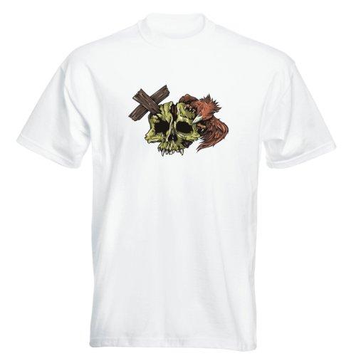 T-Shirt - Buddy Skull 28 - Totenkopf - Herren Weiß