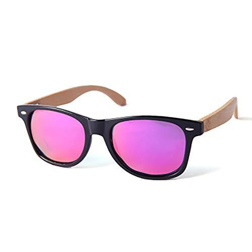 FYrainbow Unisex Holz/Bambus Sonnenbrille, Europa und Amerika Retro Exklusive polarisierte Sonnenbrille aus Holz für Damen und Herren TAC Linse UV400,K