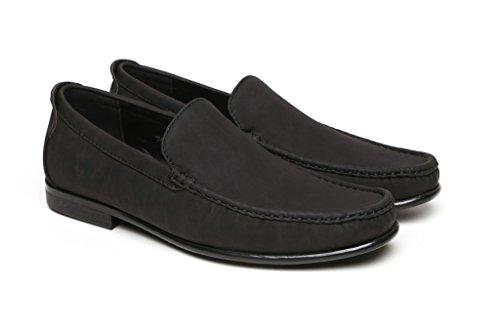 Suela Negro Zapatos Antideslizante Poner Hombres Casuales De Para Mocasines xBqnS1UY