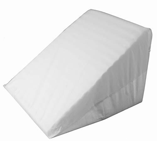 Cuscino a cuneo supporto per letto e divano - sollevamento schiena, gamba e ginocchio - per la lettura, aiuta con il reflusso acido | con fodera lavabile - realizzato in portogallo per proheeder