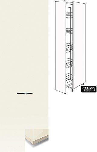#Küchenschrank Hochschrank Apothekerschrank 207cm hoch FMDFA (Breite 40cm, 82 Magnolia)#