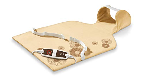 Beurer HK 58 LED - Almohadilla electrónica cervical/dorsal, funda lavable, 62 x 42 cm, color crema