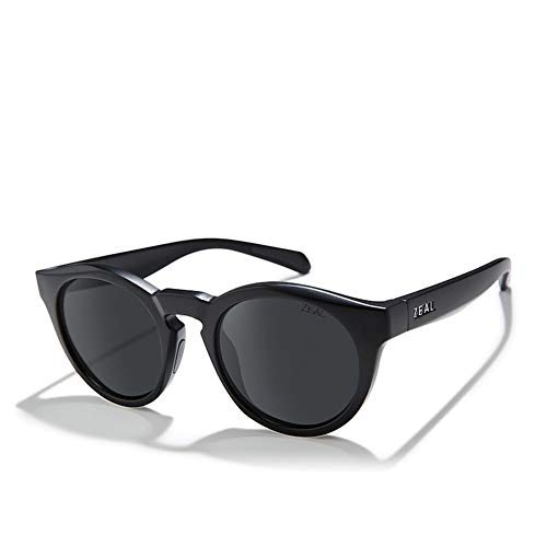 Zeal Crowley Sunglasses One Size Matte Black ~ Dark Grey Polarized