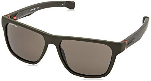 Lacoste l869s 317 57 occhiali da sole, verde (matte khaki), uomo
