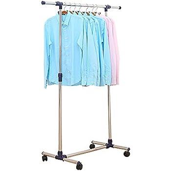 mack kleiderst nder kleiderstange garderobenst nder mit rollen h henverstellbar klein. Black Bedroom Furniture Sets. Home Design Ideas