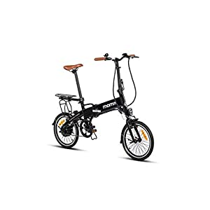 31aRf0hsi2L. SS300 Moma Bikes E-16Teen Bicicleta Elettrica Pieghevole E Portapacchi, Black, Taglia Unica