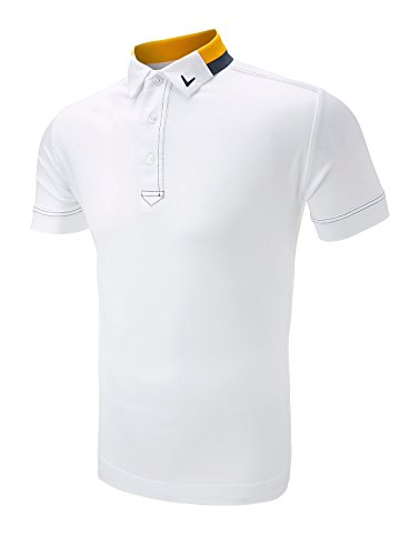 Callaway Golf X-Series Contrast Collar Polo Shirt White Large