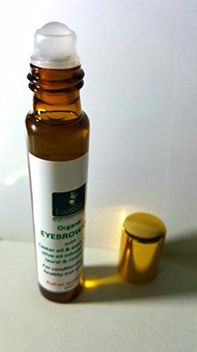 sourcils Conditionneur d'huile avec l'huile de Ricin, huile d'olive, Laurier et romarin – en Applicateur Roll On 10 ml