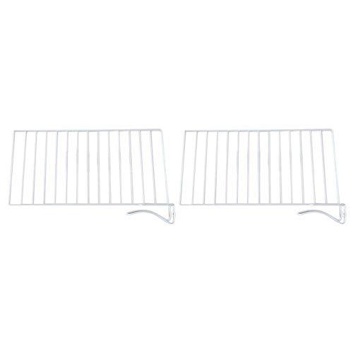Weiße Draht-organisation-system (Baffect Regaltrenner für Holzregale, 2er Set Verstellbare Regaltrennwände zum Einhängen des Regals Schranktrennwände für Closet Kitchen Bücherregal Büro (L))